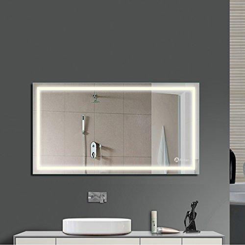 Anten Spiegel LED BadBeleuchtung 60 x 60 cm 18 W Spiegel Badezimmerspiegel Wandleuchte fr