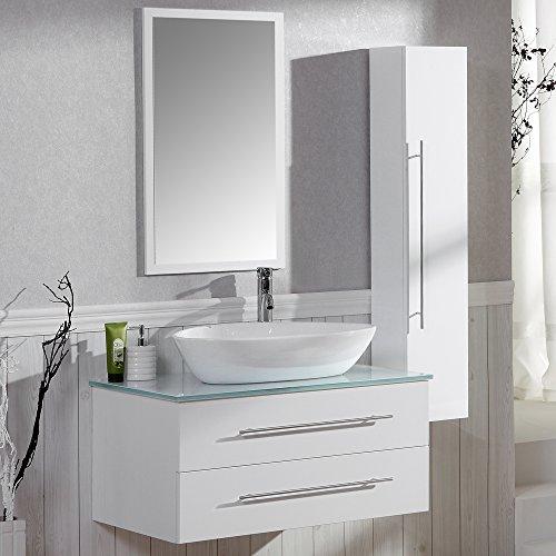 Badezimmer KomplettSet Badmbel inkl Waschbecken Armatur Waschbeckenunterschrank