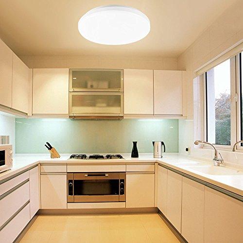 LE Wasserfest Deckenleuchte ersetzt 100W Glhbirne Warmwei led Deckenlampe IP44 12W 28cm 3000K