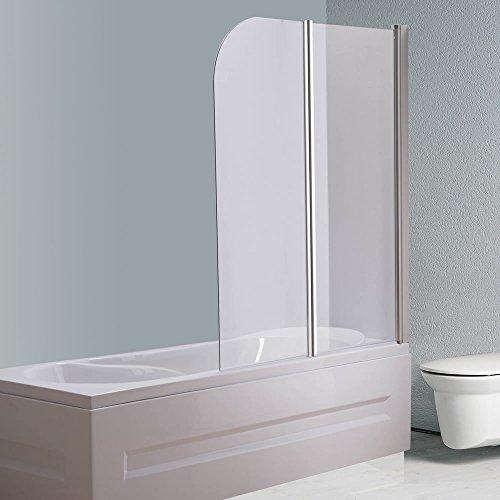133x108 CM Glas Badewannen Duschabtrennung