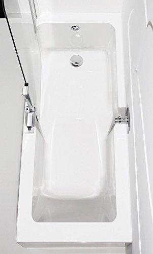 Artweger Twinline 2 Kombiwanne Badewanne mit Tr und Dusche 180 cm Duschabtrennung weiss