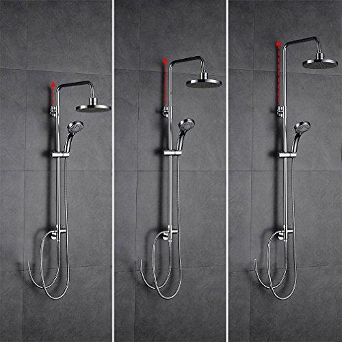 AuraLum Aufputz Duscharmatur Duschset Hhenverstellbar Duschsystem mit Handbrause Kopfbrause