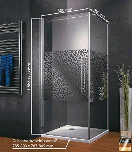 Duschkabine Dusche 80x80 Eckeinstieg Duschabtrennung Glas