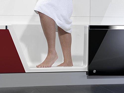 Repabad EasyIn Badewanne mit Tr und Dusche 170 cm Ausfhrung links Ecke links Front Glas Coffe