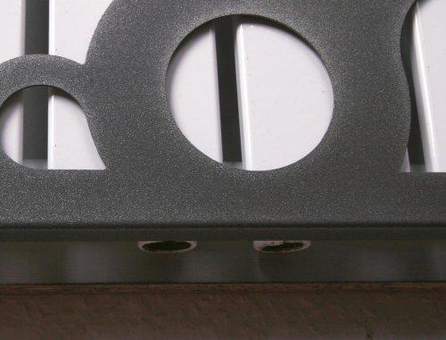 Badheizkrper Design Athen 3 HxB 180 x 47 cm 1118 Watt wei  dunkelgrau metallic Marke