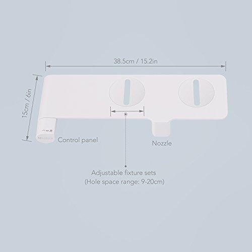 MARNUR Bidet Toilettenaufsatz mit Frischwasserspray und Selbstreinigender Dse und Hygienisch