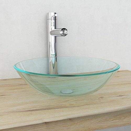vidaXL Badzimmer Aufsatz Waschbecken Waschschale