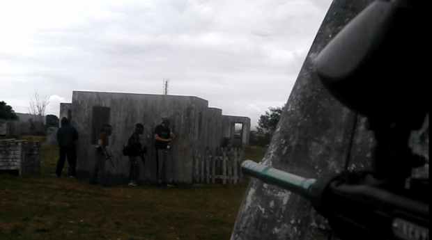 paintball - shot in the back