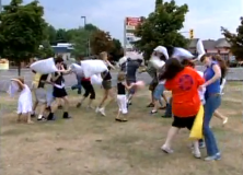 charity pillow fight
