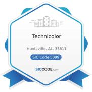 Technicolor - ZIP 35811, NAICS 423990, SIC 5099