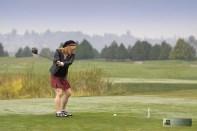 Golfer Carmen Wyton