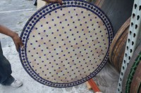 Decorative Mosaic Tile Round Table | Moroccan Furniture ...