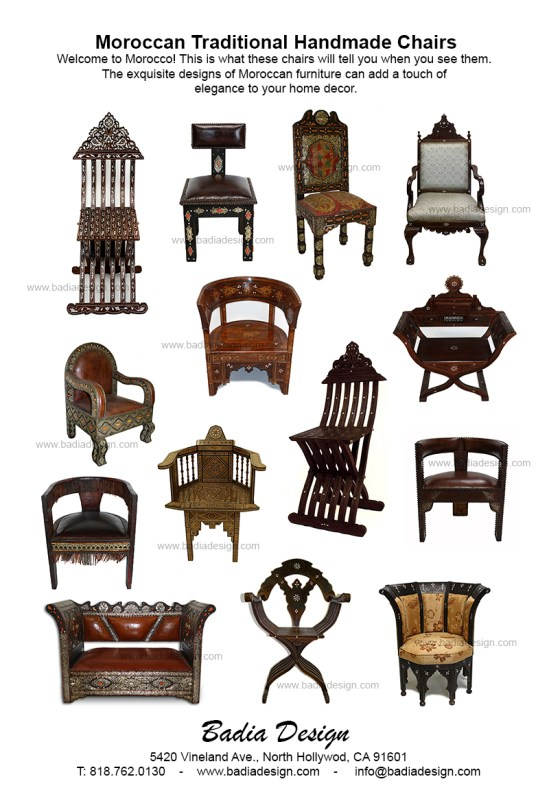 Moroccan Chairs  Moroccan Furniture Los Angeles