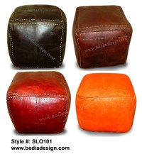 Moroccan leather pouf ottoman | Moroccan Furniture Los Angeles