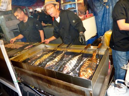 Pollak and rockfish grilled over hot coals: YUM!