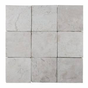 Mozaïek Parquet 10X10 Cream Tumble Marmer 30X30 cm Stabigo