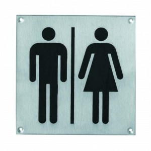 Pictogram dames- en herentoilet groot