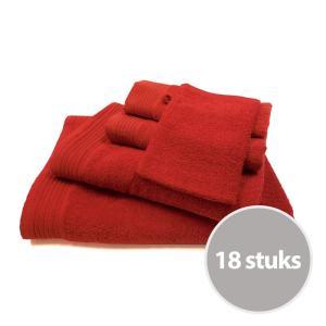 The One basic pakket badtextiel 450 gram Rood - 18 stuks
