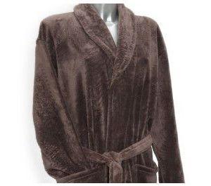 Clarysse Fleece badjas met sjaalkraag Bruin