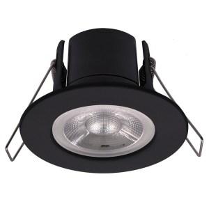 Nola LED inbouwspot zwart IP65 5W 2700K warm wit dimbaar 5 jaar garantie