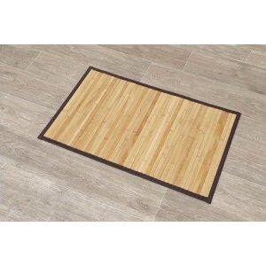 Douchemat Bamboe - Badkamermat - Beige - Anti Slip badmat - 80x50CM - Mat voor in de badkamer - Douche - Badkamer - Bamboe
