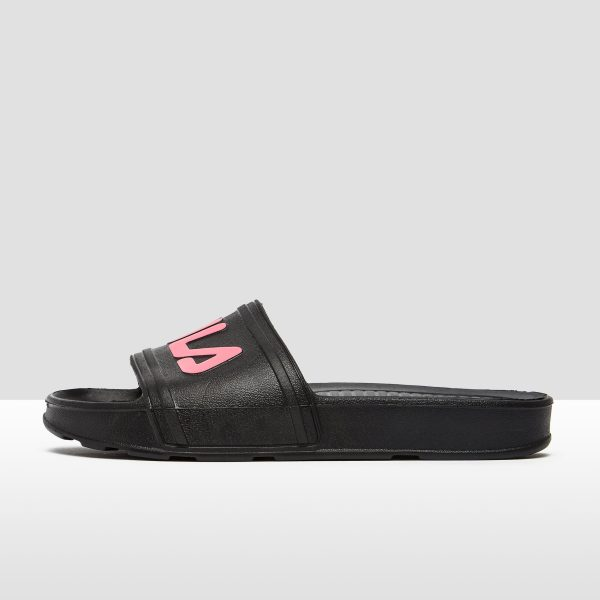 FILA Sleek slide slippers zwart/roze dames Dames