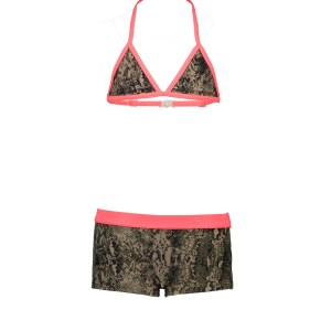 Just Beach Meisjes triangel bikini, sportief broekje - Slangenprint