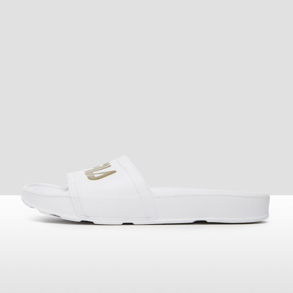 FILA Sleek slide slippers wit/goud dames Dames