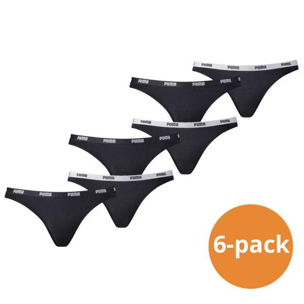 Puma Bikini Slip Dames Zwart 6-Pack