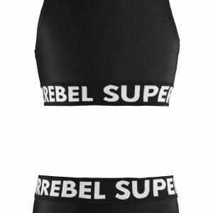 SUPERREBEL Meisjes bikini sportief - Zwart