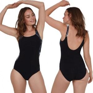 Speedo badpak LunaLustre dames polyamide zwart maat XL