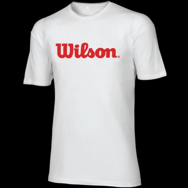Tee-shirt Wilson 2013 Blanc & Rouge - Badmania.fr Badminton