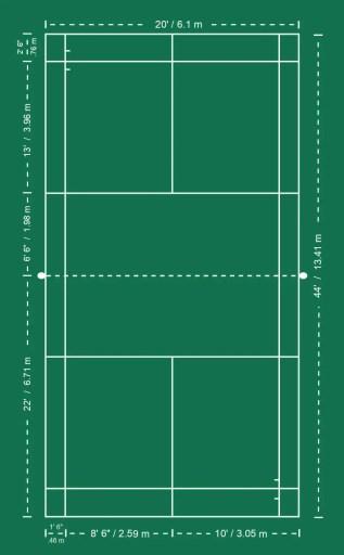 Badminton Court Vertical Dimensions