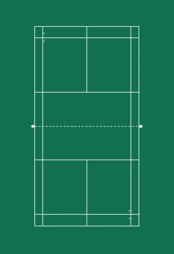 Badminton regular full court.
