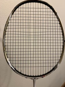 Wide Gap in Badminton Strings
