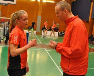 Ikasttræner Sune Gavnholt og Trine Villadsen. Foto @ Annette Vollertzen