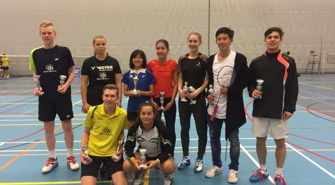 Mooie resultaten BV Almere tijdens het NJK badminton in Tilburg