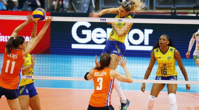 Volleybaldames verliezen van Brazilië in halve finale World Grand Prix