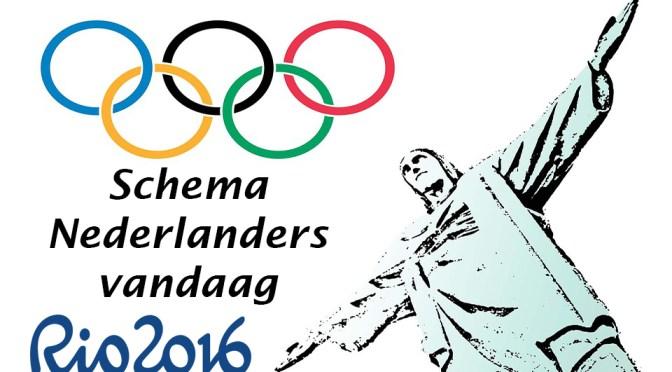 Schema en tijden van de Nederlandse deelnemers op zondag 21 augustus