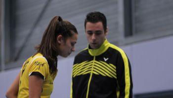 Manon Sibbald en coach Erik Staats
