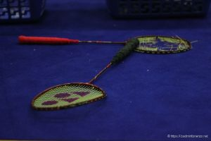 Michael Fuchs, 2 rackets in 2 minuten