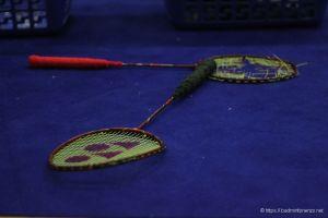 Michael Fuchs, 2 rackets in 2 minuten