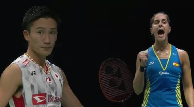 Wereldtitels badminton voor Carolina Marin en Kento Momota #Nanjing2018