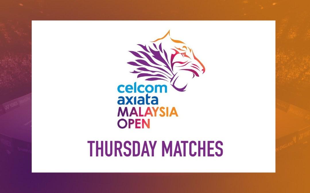 Thursday matches