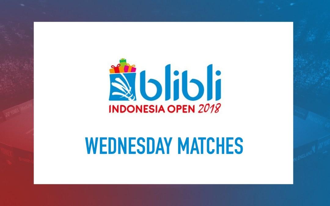 Wednesday matches