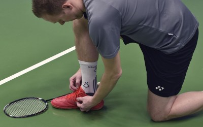Using a compression sock for badminton