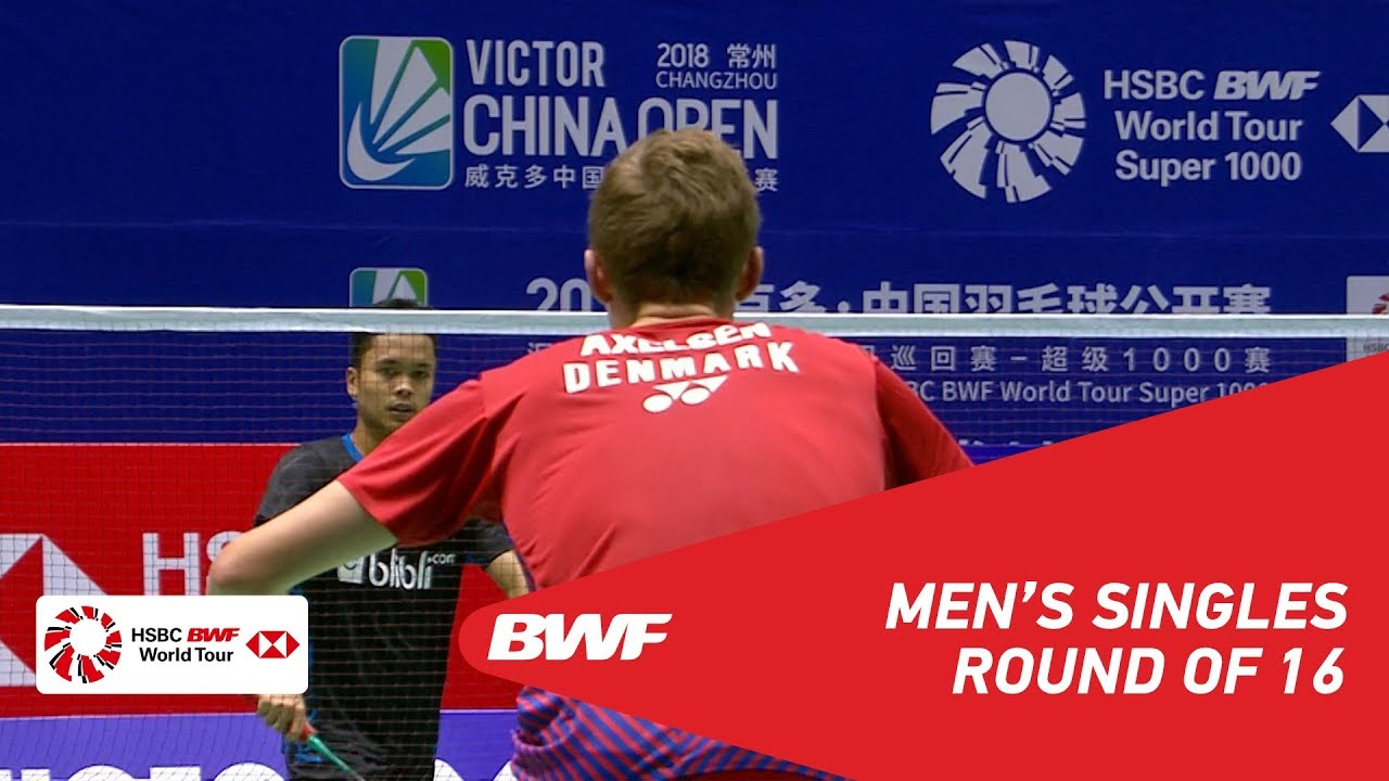 maxresdefault 18 - R16 | MS | Viktor AXELSEN (DEN) [1] vs Anthony Sinisuka GINTING (INA) | BWF2018