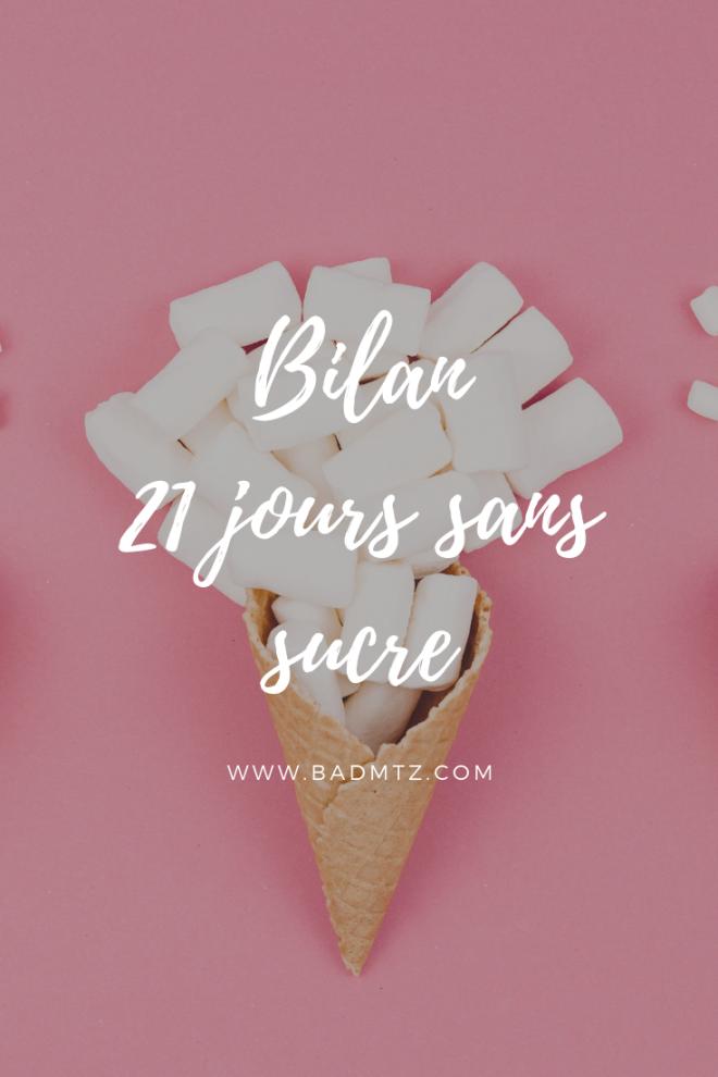 21 jours sans sucre