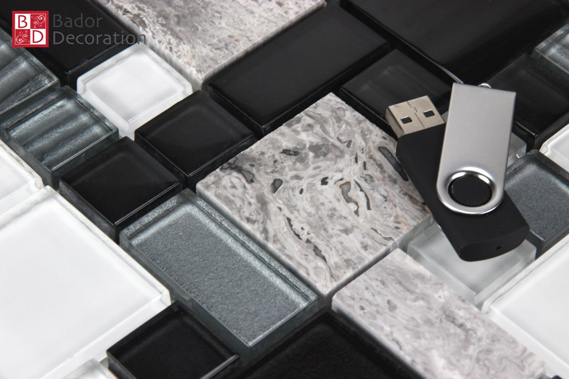 Mosaik Fliesen Schwarz Weiß Grau Fliesen Schwarz Weiß Glasmosaik