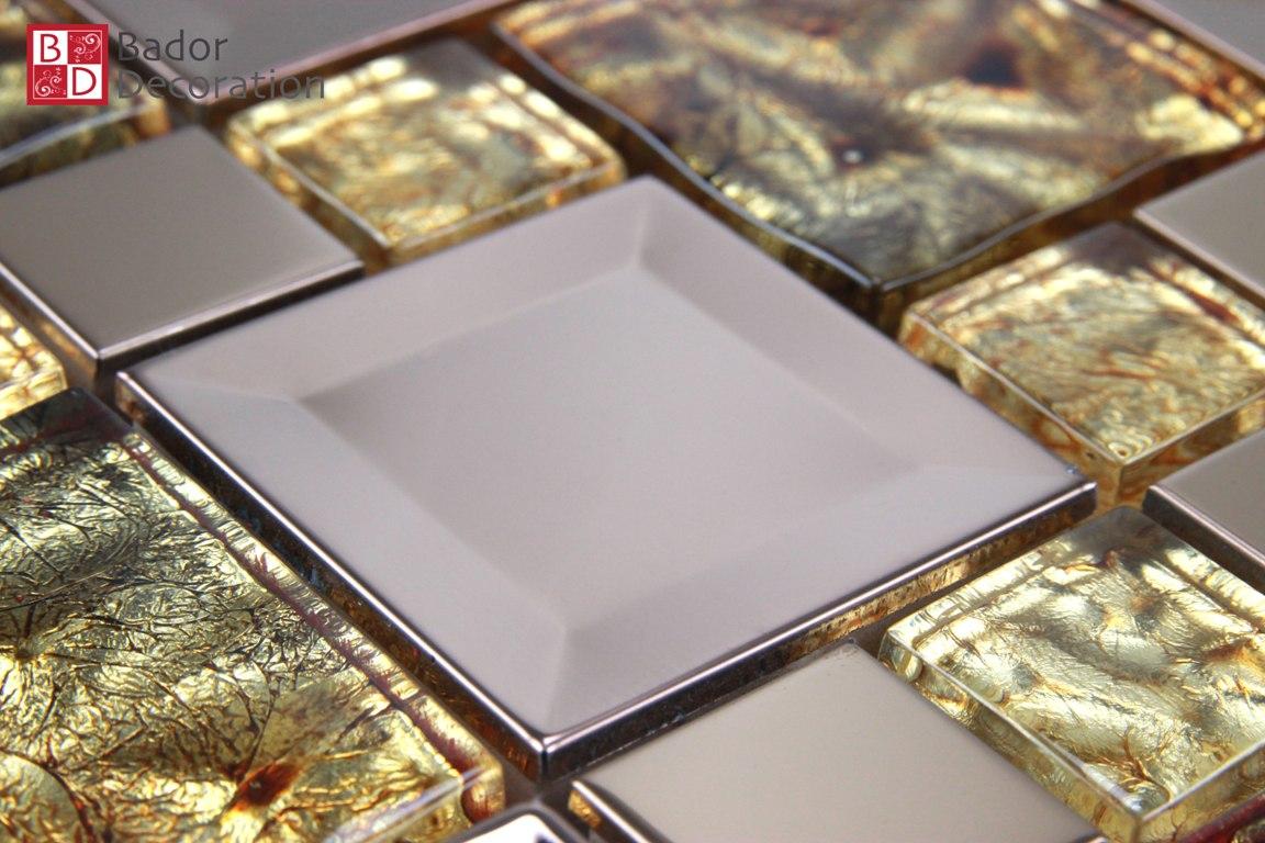 Mosaik Fliesen Gold Braun Bad Mosaikfliesen Full Size Of
